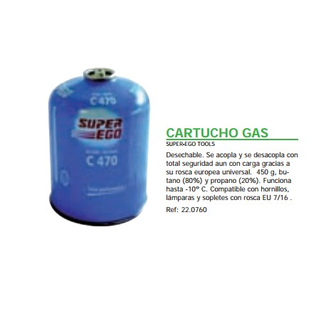 CARTUCHO GAS SUPER-EGO TOOLS