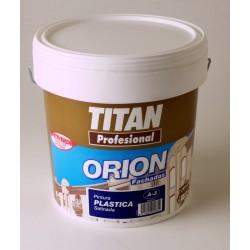 TITAN PINTURA PLASTICA SATINADA A3. INTERIOR - EXTERIOR. 15L. BLANCA. ANTIMOHO-ANTIVERDIN.